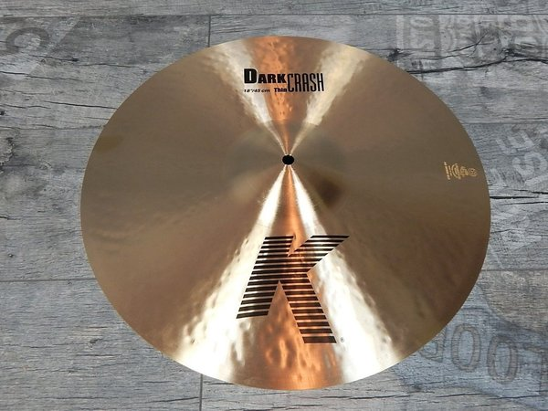 "Zildjian K 18"" Dark Thin Crash Regular -USED-"