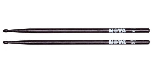 12 Paar Nova Black 5A Sticks American Hickory Drumsticks