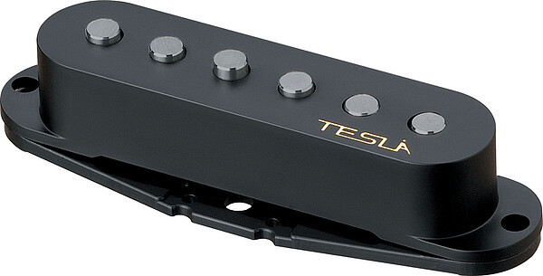 Tesla Pickup Plasma-1 Bridge Black Single Coil Tonabnehmer
