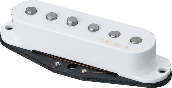 Tesla Pickup Plasma-1 Bridge White Single Coil Tonabnehmer