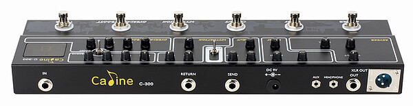 Caline C-300 Multi Effects Pedal Reverb, Delay, Chorus, Distortion, Overdrive