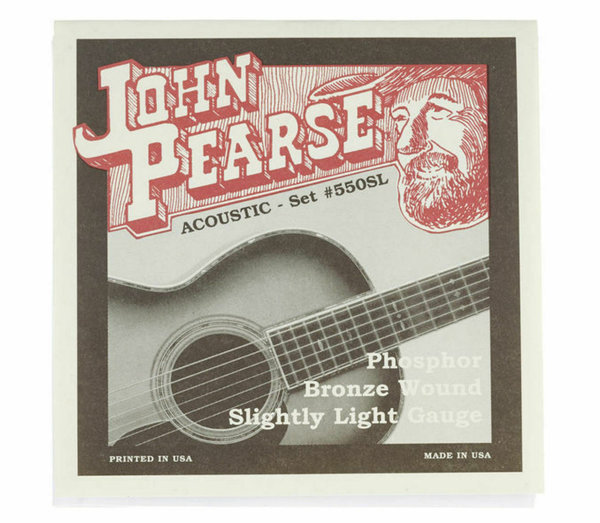 John Pearse 550SL Akustik Gitarrensaiten Phosphor Bronze Light 11-50