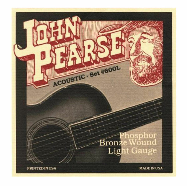 John Pearse 600L Akustik Gitarrensaiten Phosphor Bronze Light 12-53
