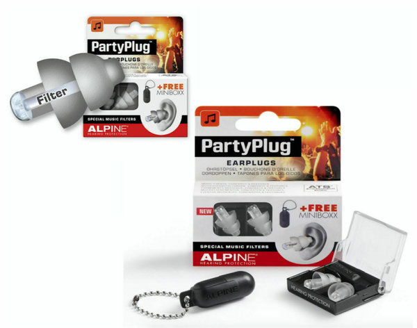 Alpine Party Plug Gehörschutz Silver Edition & Transportbox
