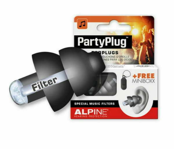 Alpine Party Plug Gehörschutz Black Edition & Transportbox