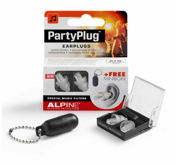 Alpine Party Plug Gehörschutz Transparent Edition & Transportbox