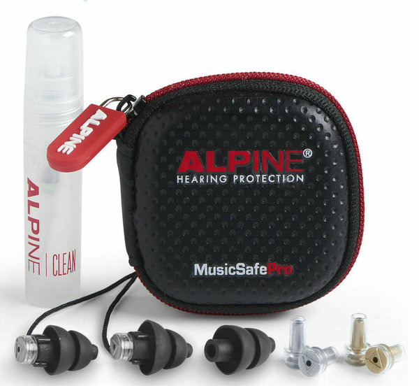 Alpine MusicSafe Pro Gehörschutz Black inkl. Transportbox & Cleanerspray