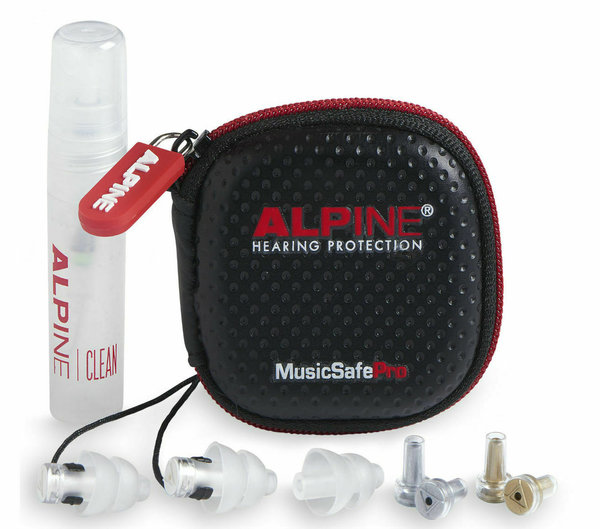 Alpine MusicSafe Pro Gehörschutz Transparent inkl. Transportbox & Cleanerspray