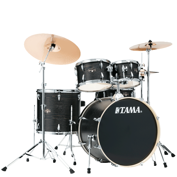 "Tama Imperialstar 20"" Drum Kit 5pcs - Black Oak Wrap IE50H6W-BOW"