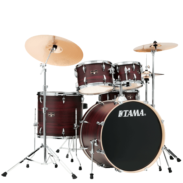 "Tama Imperialstar 22"" Drum Kit 5pcs - Burgundy Walnut Wrap IE52KH6W-BWW"