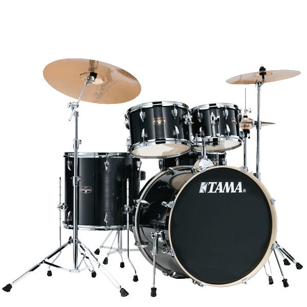 "Tama Imperialstar 20"" Drum Kit 5pcs - Hairline Black IE50H6W-HBK"