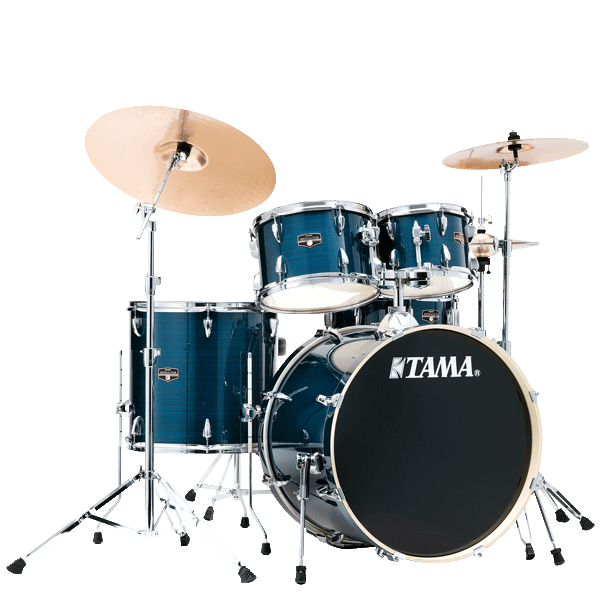 "Tama Imperialstar 20"" Drum Kit 5pcs - Hairline Blue IE50H6W-HLB"