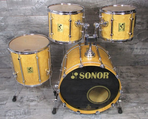 Sonor Force 3000 Maserbirke 22,12,13,16 Drums Schlagzeug Vintage Made in Germany -SOLD-